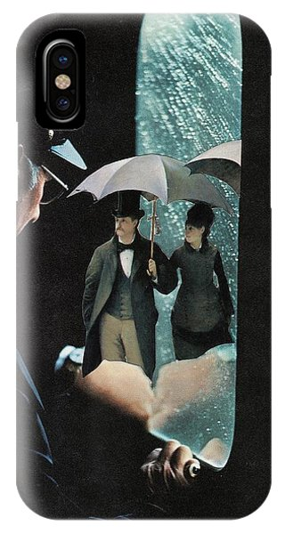 Rainy Day iPhone Case - Stepping In From The Rain by Lisa Wines