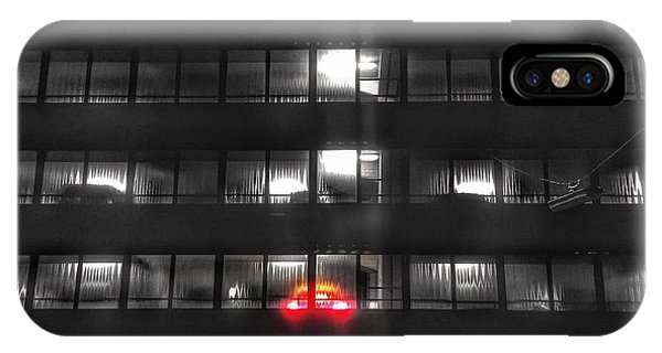 IPhone Case featuring the photograph Stepping On The Brakes In The Parking Garage by Dirk Jung