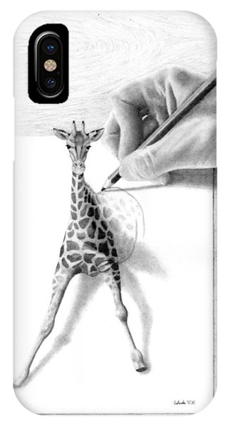 Giraffe iPhone Case - Stepping Out by Selinda Van Horn