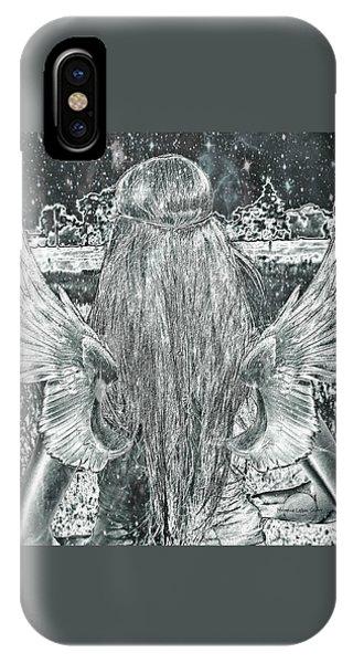 Treeline iPhone Case - Sterling Angel by Absinthe Art By Michelle LeAnn Scott