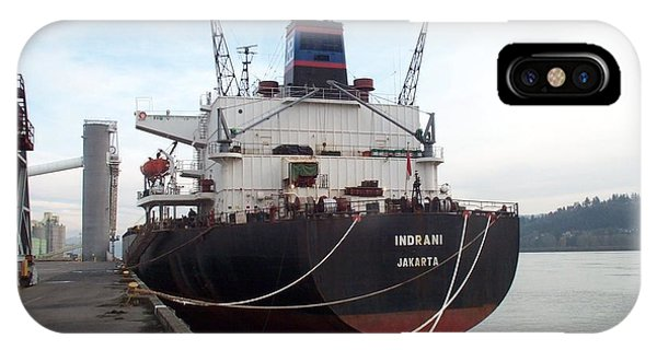 Stern Of The Vessel Indrani At Dock Phone Case by Alan Espasandin