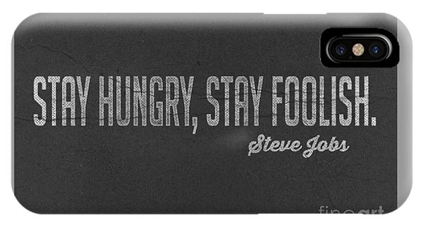 Steve Jobs Stay Hungry Stay Foolish IPhone Case