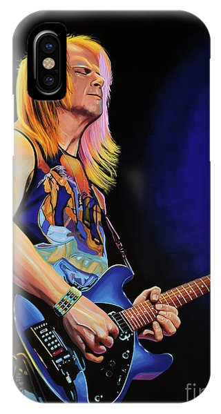 Popstar iPhone Case - Steve Morse Painting by Paul Meijering