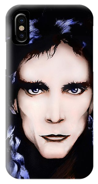 Alice Cooper iPhone Case - Steve Vai by Curtiss Shaffer