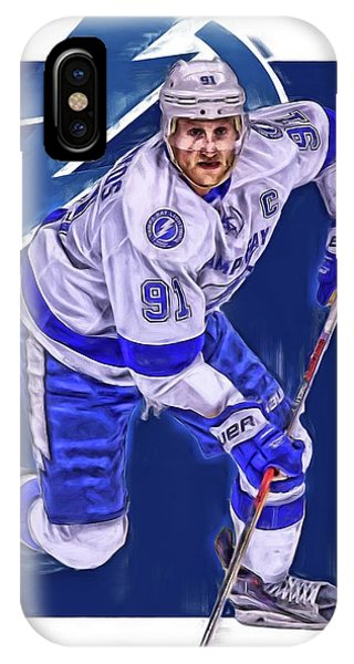 Winter iPhone Case - Steven Stamkos Tampa Bay Lightning Oil Art Series 1 by Joe Hamilton