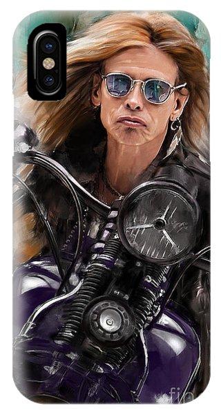 Steven Tyler iPhone Case - Steven Tyler On A Bike by Melanie D