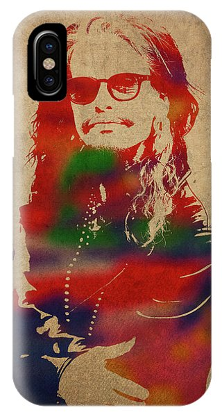 Steven Tyler iPhone Case - Steven Tyler Watercolor Portrait Aerosmith by Design Turnpike
