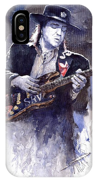 Portret iPhone Case - Stevie Ray Vaughan 1 by Yuriy Shevchuk