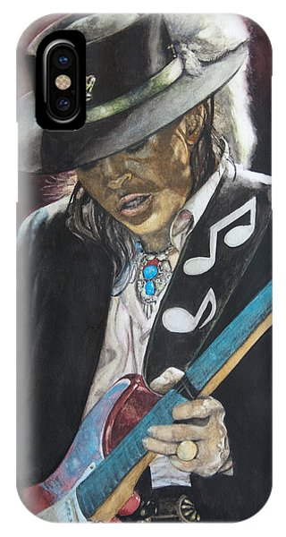 Guitar Legends iPhone Case - Stevie Ray Vaughan  by Lance Gebhardt