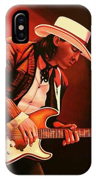 Steps iPhone Case - Stevie Ray Vaughan Painting by Paul Meijering