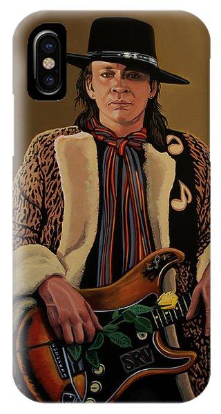 Steps iPhone Case - Stevie Ray Vaughan 2 by Paul Meijering