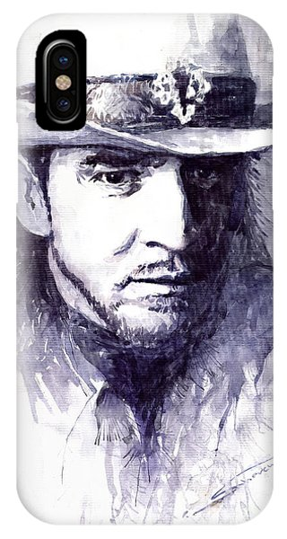 Portret iPhone Case - Stevie Ray Vaughan by Yuriy Shevchuk