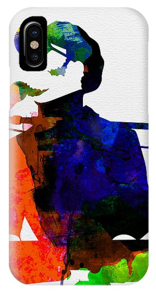 African American iPhone Case - Stevie Watercolor by Naxart Studio