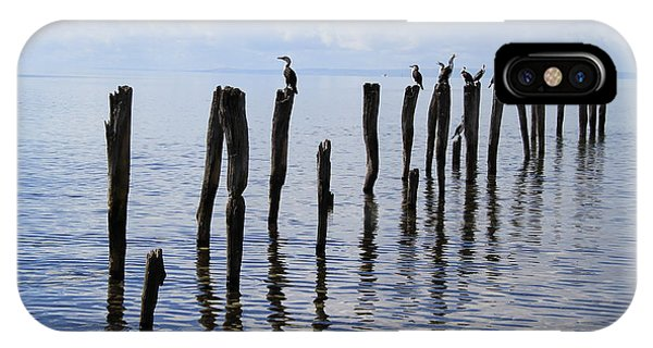 IPhone Case featuring the photograph Sticks Out To Sea by Stephen Mitchell