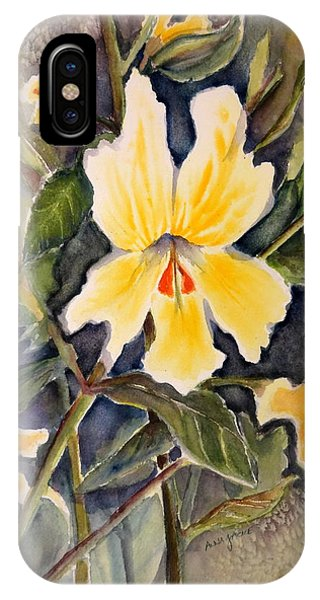 Sticky Monkey Flower IPhone Case