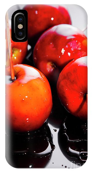 Or iPhone Case - Sticky Red Toffee Apple Childhood Treat by Jorgo Photography - Wall Art Gallery