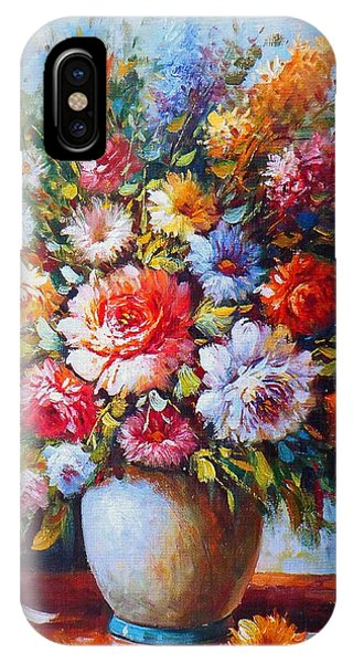 Still Life Colourful Flowers In Bloom IPhone Case