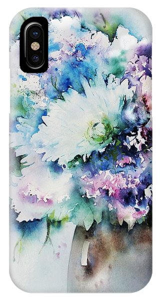 Still Life Rose Bouquet Watercolour IPhone Case