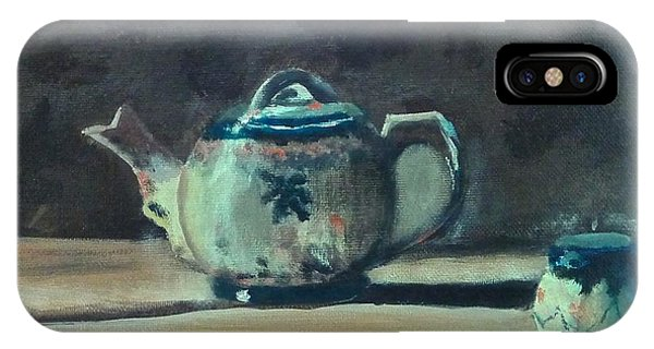 Still Life Teapot And Sugar Bowl IPhone Case