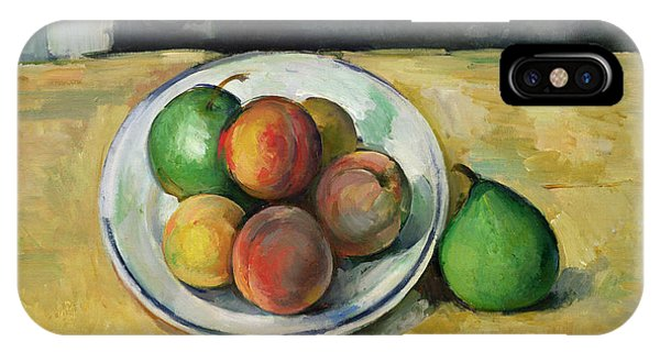 Life iPhone Case - Still Life With A Peach And Two Green Pears by Paul Cezanne