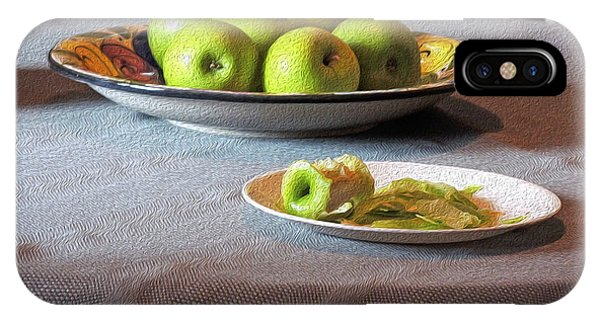 Still Life With Apples And Chair IPhone Case
