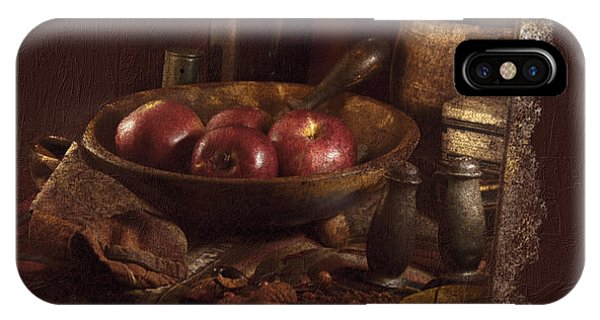 Still Life With Apples, Bottles, Baskets And Shakers. IPhone Case