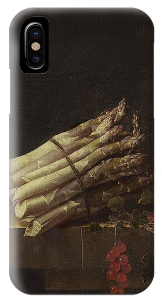 iPhone Case - Still Life With Asparagus And Red Currants by Adriaen Coorte