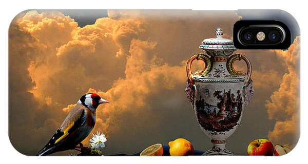 IPhone Case featuring the digital art Still Life With Bird by Alexa Szlavics