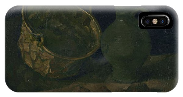 Lid iPhone Case - Still Life With Brass Cauldron And Jug, 1885 by Vincent Van Gogh
