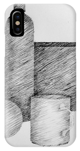 Still Life With Cup Bottle And Shapes IPhone Case