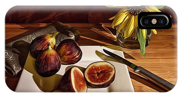 Still Life With Flower And Figs IPhone Case