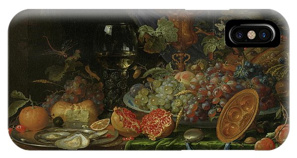 Protein iPhone Case - Still Life With Fruit And Oysters   by Abraham Mignon
