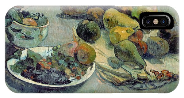 Mango iPhone Case - Still Life With Fruit by Paul Gauguin