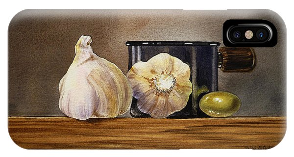 Still Life With Garlic And Olive IPhone Case