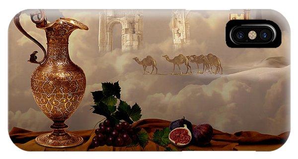 IPhone Case featuring the digital art Still Life With Gold Key by Alexa Szlavics