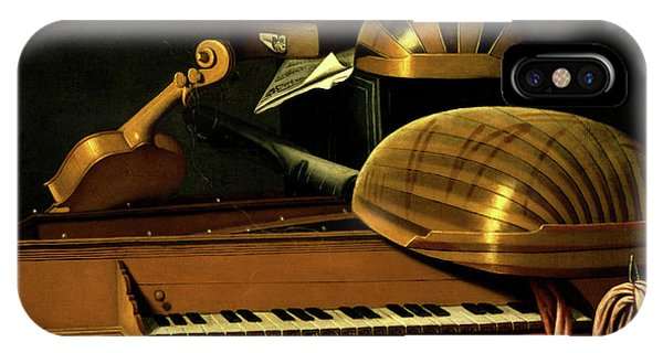 Still Life With Musical Instruments And Books IPhone Case