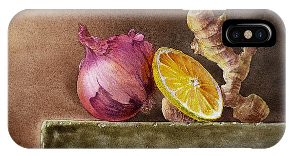 Still Life With Onion Lemon And Ginger IPhone Case