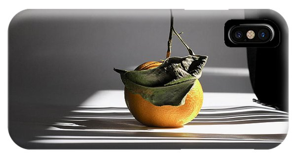Still Life With Orange And Grid Lines. IPhone Case