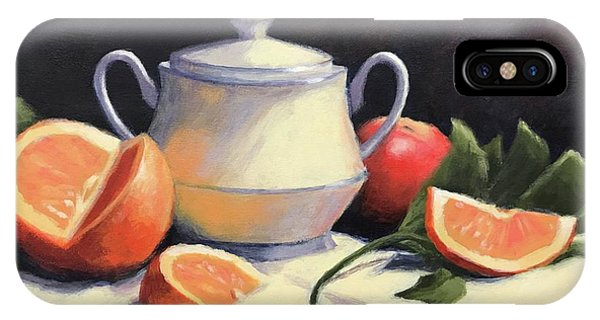 Lid iPhone Case - Still Life With Oranges by Janet King