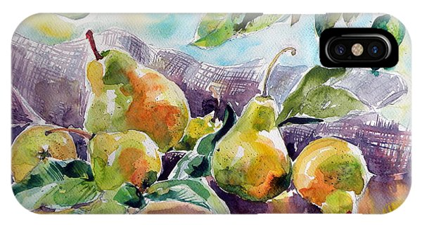 Pears iPhone Case - Still Life With Pears by Kovacs Anna Brigitta