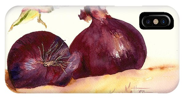 Still Life With Red Onions IPhone Case