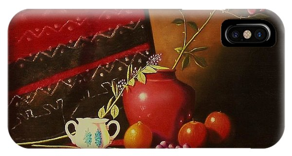 Still Life With Red Vase. IPhone Case