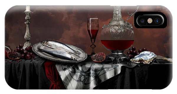 IPhone Case featuring the digital art Still Life With Red Wine by Alexa Szlavics