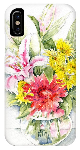 Still Life With Red Zinnia IPhone Case