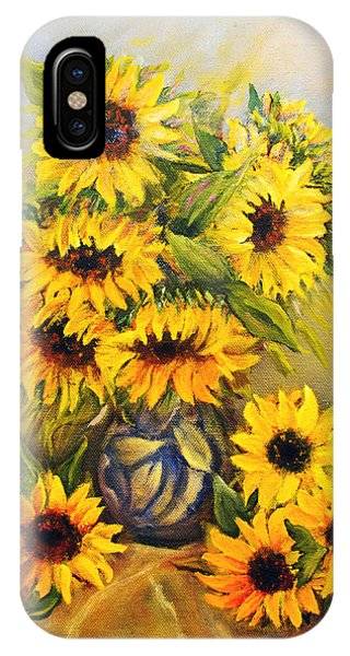 Still Life With Sunflowers IPhone Case