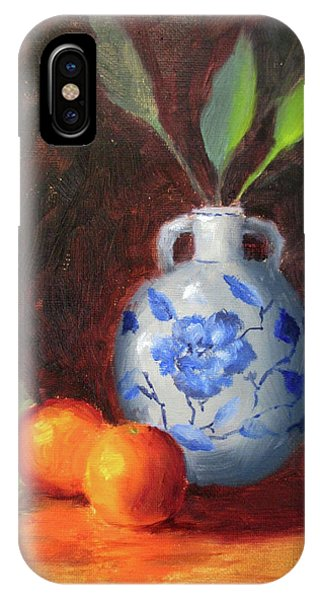 iPhone Case - Still Life With Vase And Fruit by Liberty Dickinson