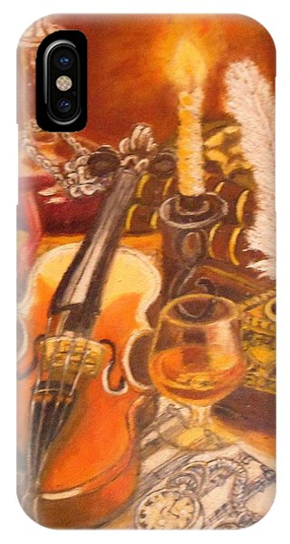 Still Life With Violin And Candle IPhone Case