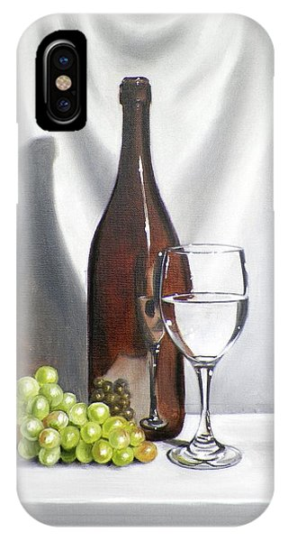 iPhone Case - Still Life With White Wine by RB McGrath