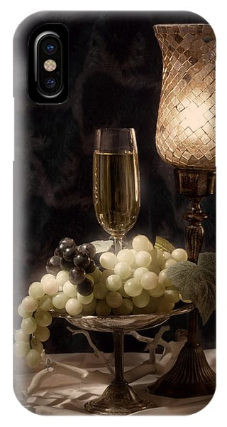 Still Life With Wine And Grapes IPhone Case