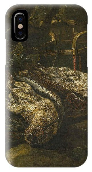 Woodcock iPhone Case - Still Life With Woodcocks by Jan Fyt